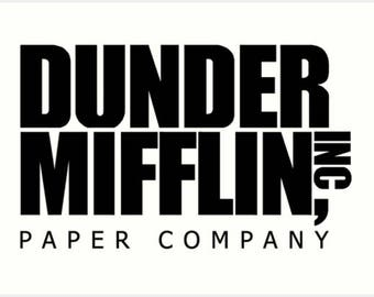 Dunder Mifflin Inc, Vinyl Decal, Sticker, Paper Company, The Office, Michael Scott, Car, Window, Tumbler, Decoration