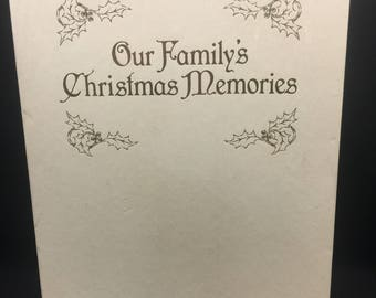 Our Families Christmas Memories Book