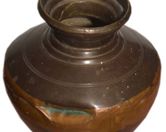 Antique Rare Big Brass Holy Water Pot Hand Crafted Beautiful Design BY HappyseasonBoutique