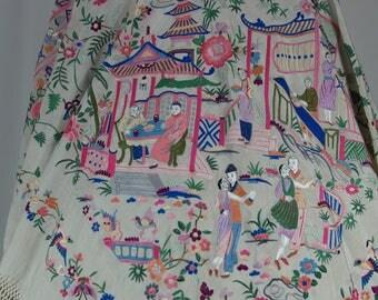 Old cut Manila shawl