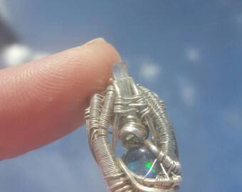 Aquamarine and opal