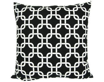black and white pattern Cushion cover marine tracery
