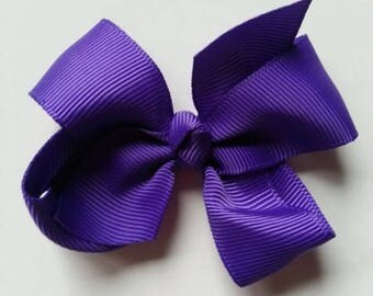 noeud  en ruban gros grain violet 70*45mm