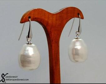 Orecchini argento con pendente smaltato