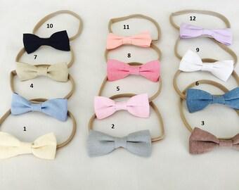 Set of 3, Bow Headbands, Nylon Bow Headbands, Baby Headbands Bow, Girls Headbands, Hair Accessories
