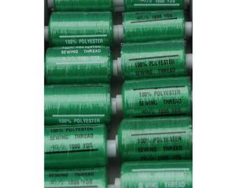 Green polyester thread grass 243 1000 yards