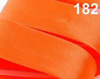 bias satin orange 20 mm wide