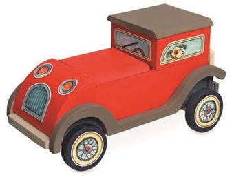 To assemble, paint and decorate with stickers wooden car / creative Kit /DIY kids painting