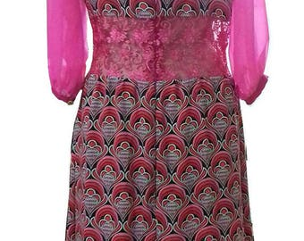 Tribal inspired lovely lace and rayon dress
