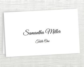 Printable Place Card Template - Escort Card Template - Tent Placecards - Rustic Place Cards - Customize Fonts and Colors, Instant Formatting