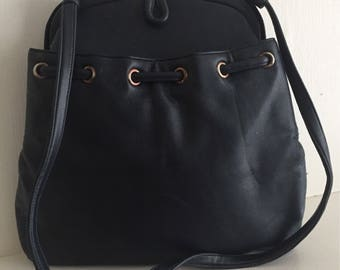 Crown Lewis Navy Blue tall shoulder bag