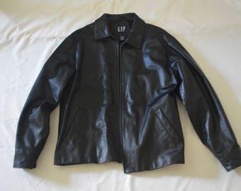 Black Gap Leather Jacket