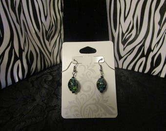 Turquoise & Black Earrings