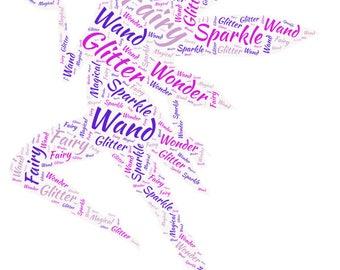 Fairy/Ballerina Word Art