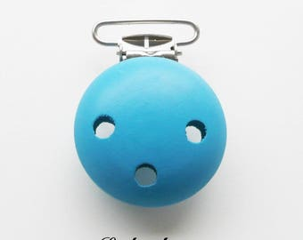 Clip / wooden pacifier Clip, from 25 mm: Blue