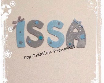 Custom name - wood 15 cm tall, painted, glittered and customized letter