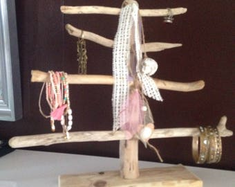 Natural Driftwood jewelry holder