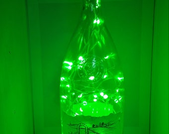 Porta Vita color changing LED lamp (battery) Glass Liquor Bottle - LED Lighting with REMOTE!!