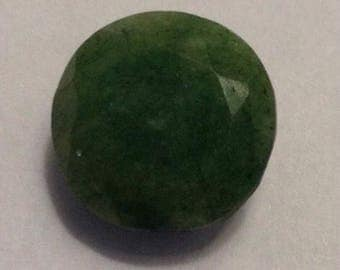 Faceted natural emerald from Brazil. 12.8 carat