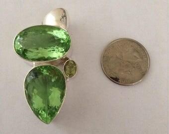 Peridot green pendant.