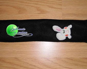 Protects belt embroidered with a rabbit