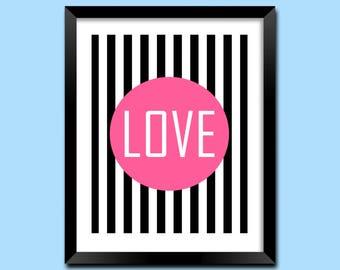 Home Decor Wall Art, Printable Art, Bedroom Decor, Printable Wall Art, Quotes Print, Love Art, Typography Print, Bedroom Art | M0042
