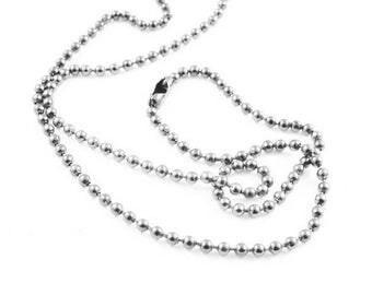 Necklace chain ❤X1 logs gris❤ 70cm