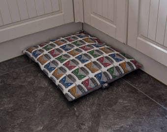 VW Camper Dog Bed, Quilt, Pillow, Crate Mat
