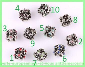European N570 N7 bracelet charms flower rhinestone Pearl