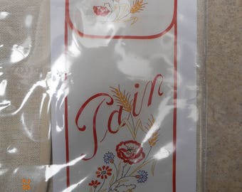 bread bag embroidery floral theme