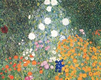 SET of TABLE ORIGINAL ornate AESTHETIC, WASHABLE and durable - Gustav Klimt - garden - classic.