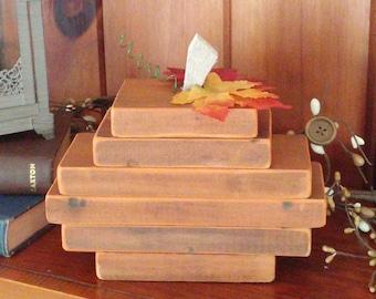 rustic wooden pumpkin, hand made