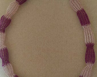 Choker necklace, handmade crocheted copper wire.