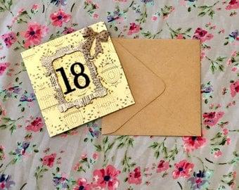 Birdcage 18th Birthday Card