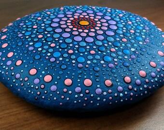 Dot Mandala in a big stone
