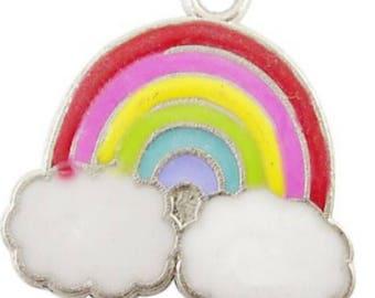 5 pieces rainbow Alloy Charm Pendants - A0065