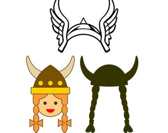 Girl Viking Cuttable Design SVG PNG DXF & eps Designs Cameo File Silhouette
