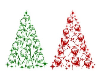 Schnauzer Dog Christmas Tree Cuttable Design SVG PNG DXF & eps Designs Cameo File Silhouette