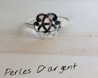 Arabesque in 925 sterling silver Bangle Bracelet