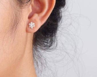 Sterling Silver Snowflake Stud Earrings | Stud Earrings | Christmas | Sterling Silver  | Snowflake Earrings | Winter Earrings