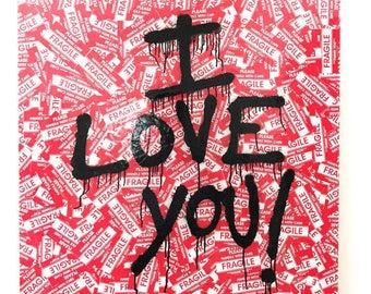 "I LOVE YOU Art ""Mr. Brainwash"" INSPIRED"