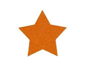 Star fusible pattern 5 X 4.8 cm orange Velvet