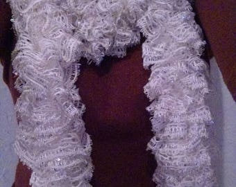 Customizable Solid Color Ruffle Scarf