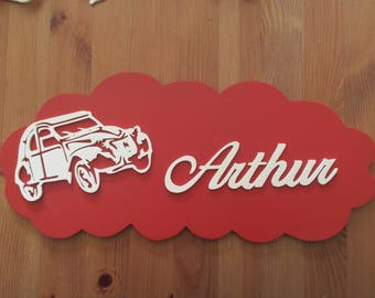 personalized with 2 cv red door plaque