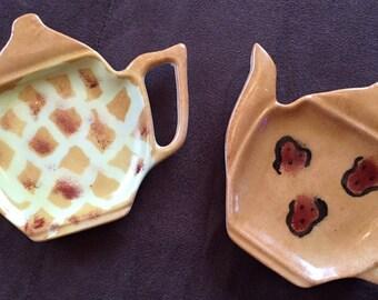 Rests Giraffe and Leopard pattern porcelain tea bag