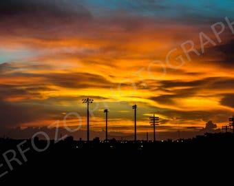 The Sandy Sunset Print