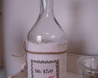 decanter glass, antique cream hemp, no. 130, shabby chic