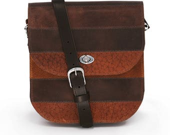 REAL LEATHER Brown Messenger – Cross Body Bag