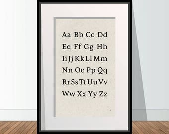 Alphabet Poster 1