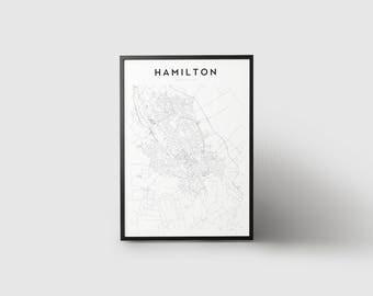Hamilton Map Print